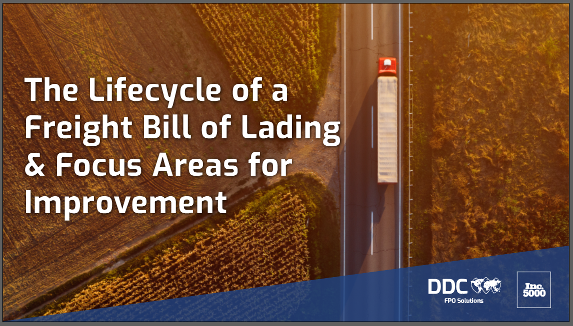 The Lifecycle of a Freight Bill of Lading & Focus Areas for Improvement